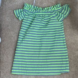 Blew and free striped dress